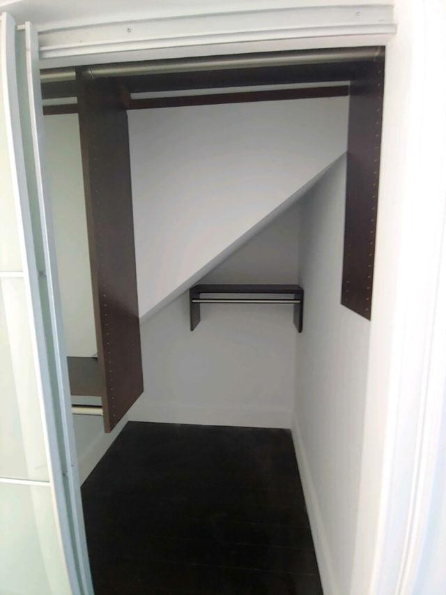 Chocolate Pearwood Closet Behind A Closet