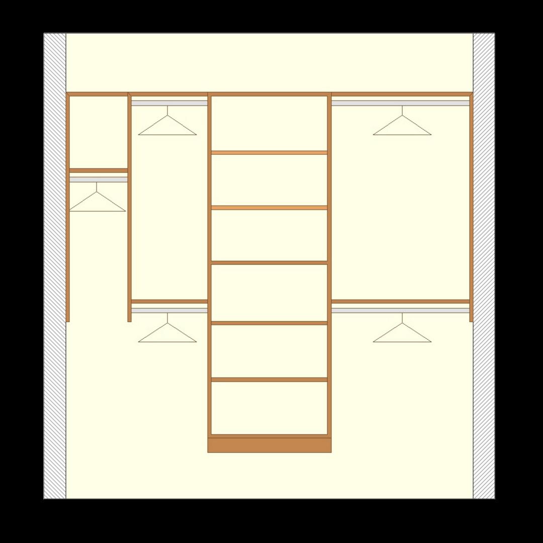 Closetsetc Design Guide Reach In Closet Premium Configuration Transparent