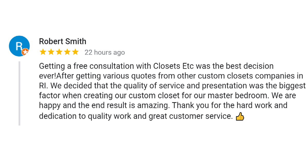 Closets etc. Reviews