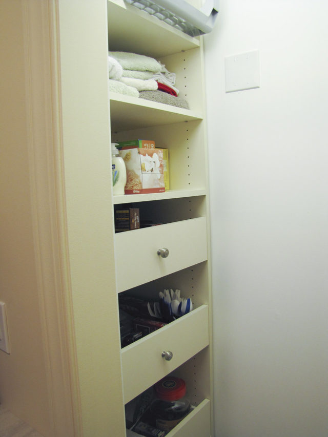 Small Linen Closet With Pull Outs