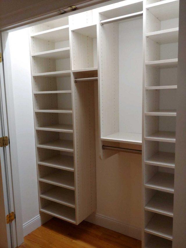 White Reach In Closet