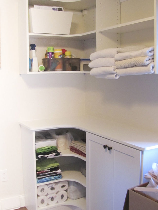 Compact Laundry Area With Folding Table