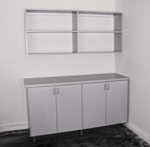 Grey Workbench Shelving Adjusted Garage 1
