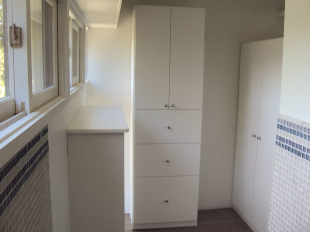 Laundry Closed Cabinets Plus Folding Area
