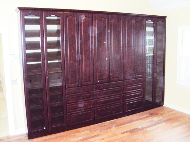 Living Room Mahogany Wall System