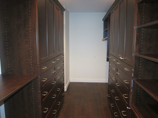Mahogany Shaker Cabinetry With Crown