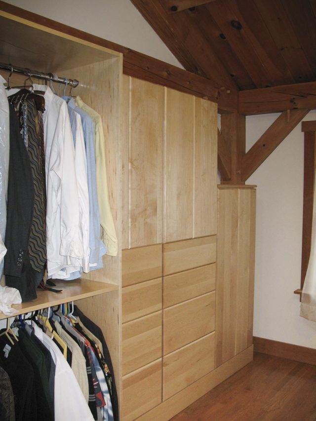 Maple Veneer Bedroom Wall System
