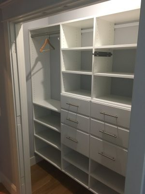 Reach-in with Drawers, Hanging and Shelves in Compact Space