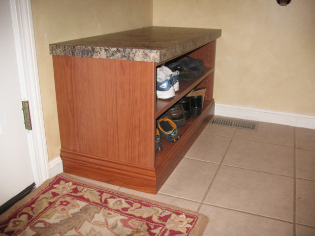 Sunset Mudroom Shoe Shelving Formica Top