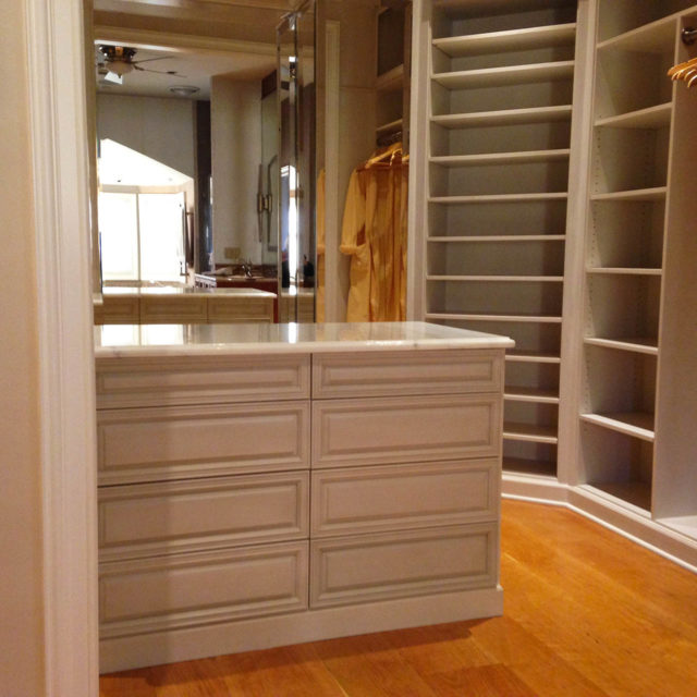 Walk-In Wood With Custom Stained Finish