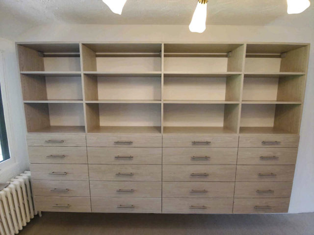 Weekend Getaway Wall System With Flat Drawers
