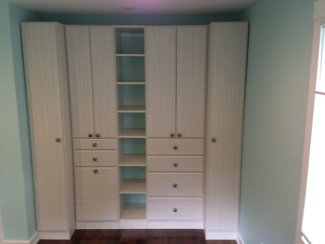 White Chocolate Wall System Drawers Shelving Wardrobes