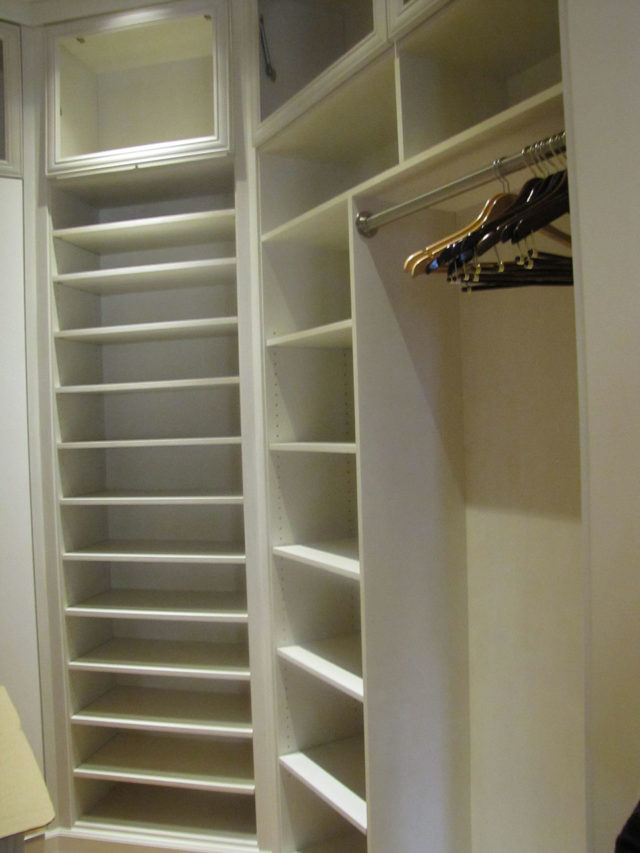 White Custom Stained Wood Walk-In