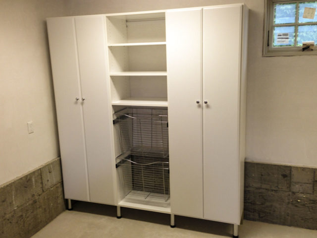White Storage Cabinets With Baskets Metal Legs